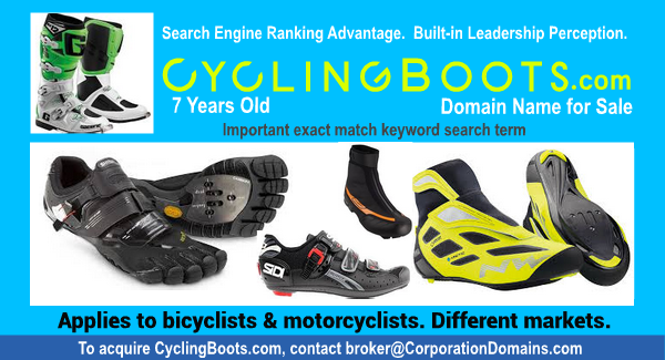 Cycling boots for motorbikes or for bicycles: CyclingBoots.com domain name for sale