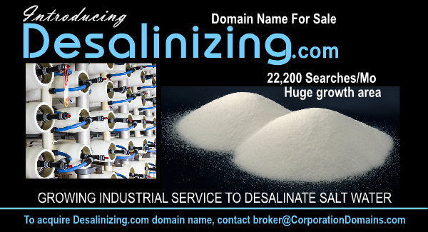 Desalinizing.com url domain name for desalinization industry