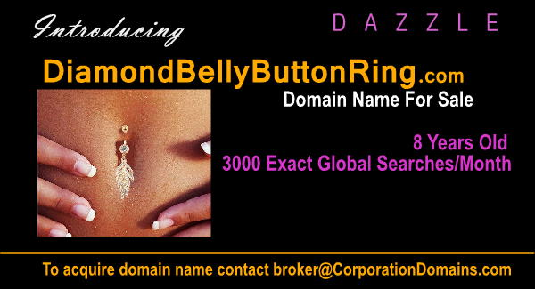 DiamondBellyButtonRing.com domain available for ecommerce