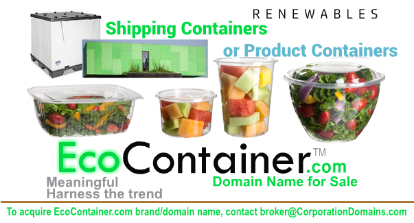 EcoContainer.com url domain name for renewables market