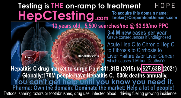 Hep C Testing domain and business url