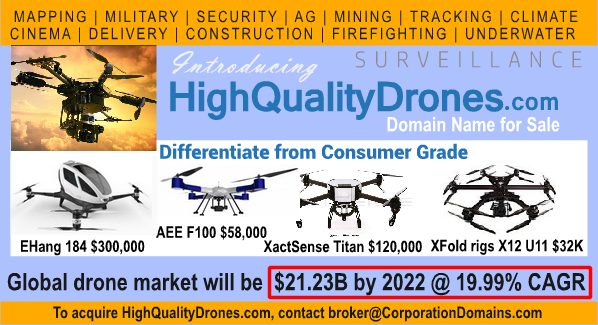 image for HighQualityDrones.com url for sale