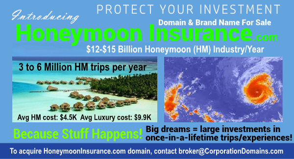 Honeymoon Insurance domain name image