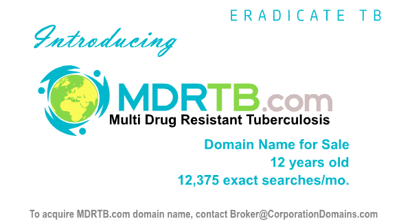 MDRTB.com domain name for sale for multi drug resistant TB