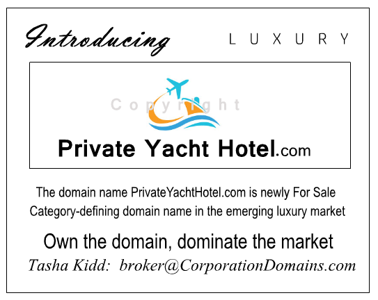 PrivateYachtHotel.com domain name for sale