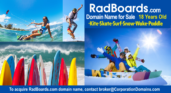 RadBoards.com url brand name and domain name for board sportsy