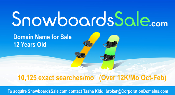 SnowboardsSale.com domain name for sale for snowboards sale and retail or ecommerce for snowboards